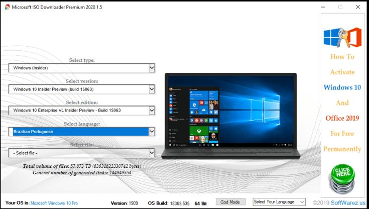 Microsoft ISO Downloader Premium Key