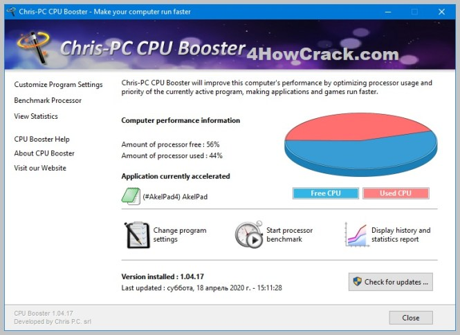 Chris-PC CPU Booster Serial Key