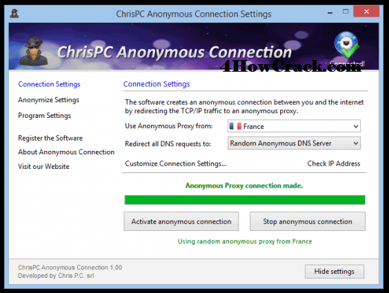 ChrisPC Anonymous Connection Serial Key Download