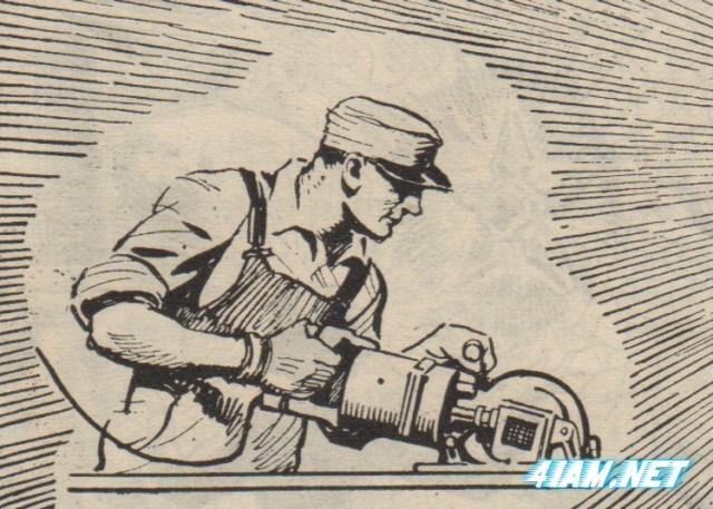 А с такой электропилой один человек мог заменить пять рабочих, гласила реклама.