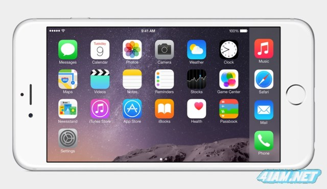 Apple iPhone 6 Plus landscape mode