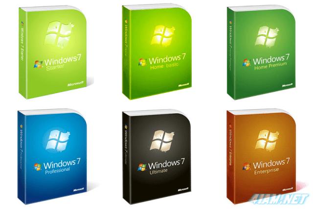 Microsoft Windows 7 All Six Versions