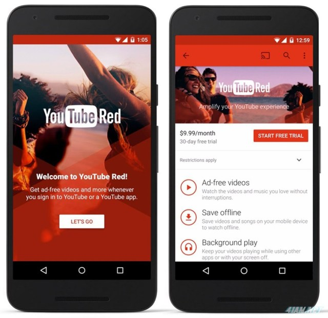YouTube Red on Android