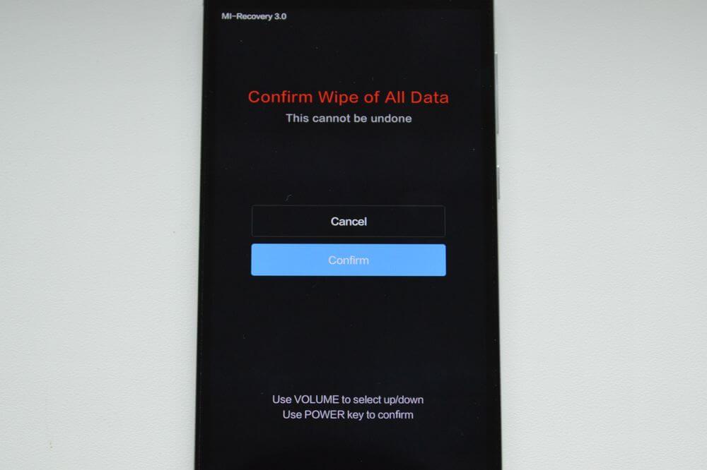 Ellenőrizze, hogy törölje az összes adatot
