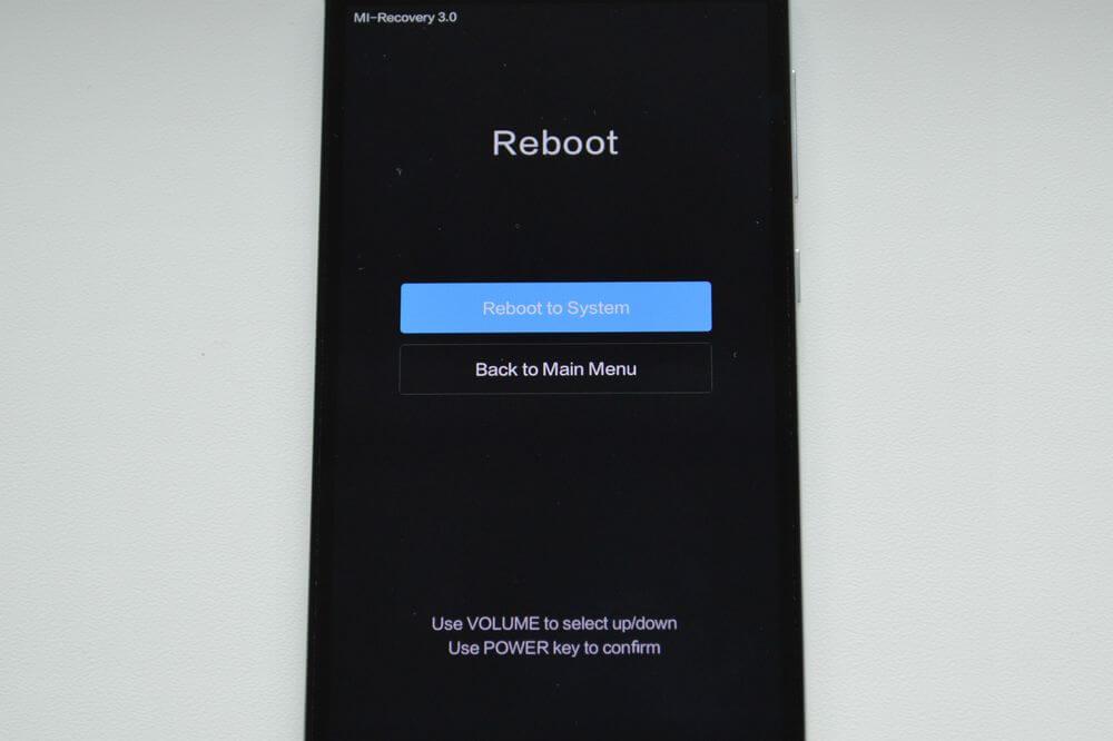 Indítsa újra a Xiaomi rendszert