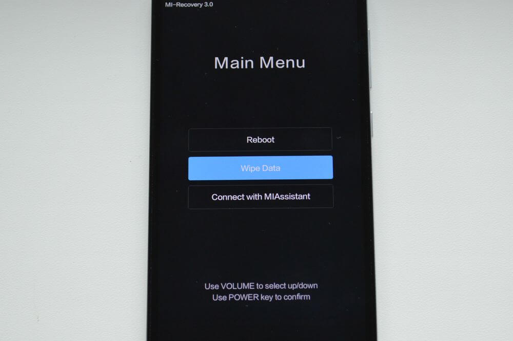 Xiaomi helyreállítási mód.