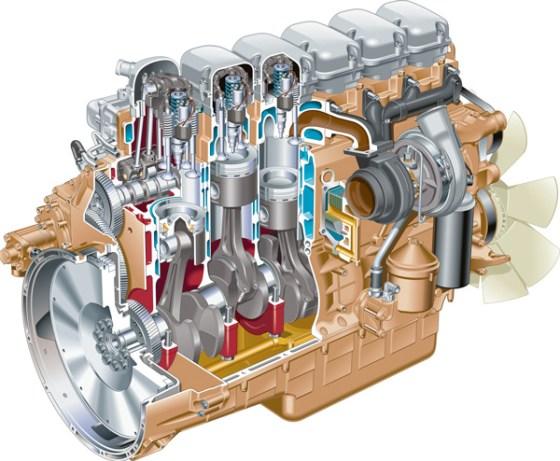дизельный мотор в разрезе