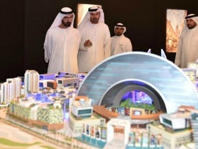 Город под куполом Дубаи