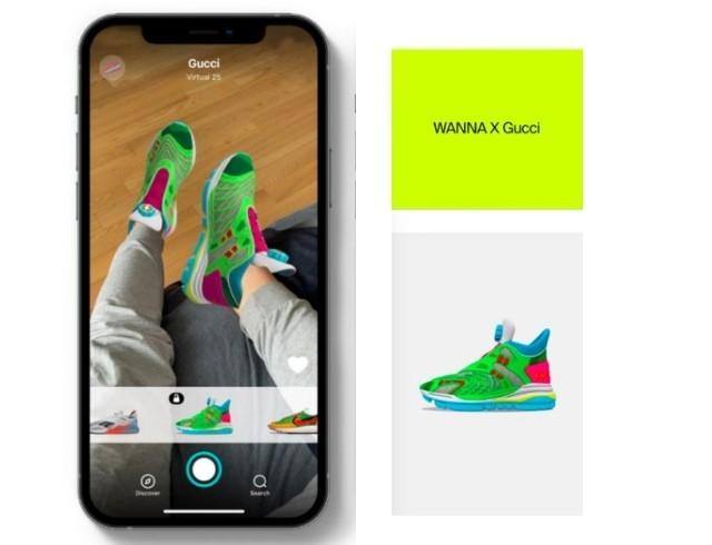 Виртуальные кроссовки от Gucci для AR