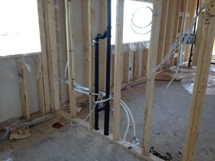 Plumbing & electrical going in