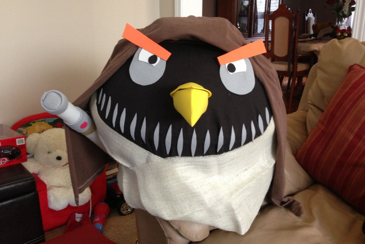 A Halloween Reveal: DIY Angry Birds Costume