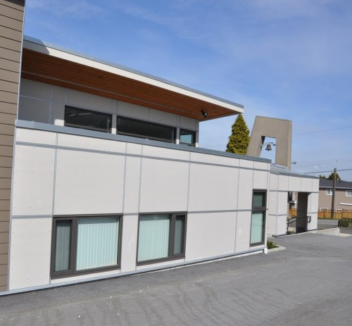 Modern application of HardiePanel siding with EasyTrim via stormxconstruction