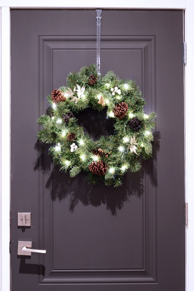 Dreamhouse Project front door with wreath