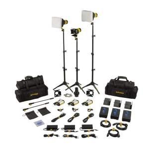 Dedolight SLT3-3-BI-S Kit iluminare 3 lumini LED Bicolor Master