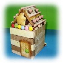 お菓子の家づくり写真