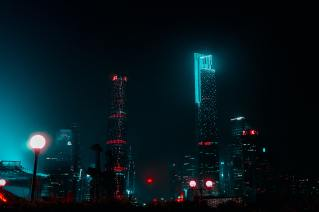 high-rise-buildings-during-nighttime