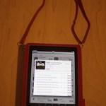 iPad ケース Simplism ショルダーレザー ディープレッド