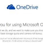 無事獲得できた?マイクロソフトから15GBのOneDriveクラウド容量を無償で続ける権利をもぎとる方法