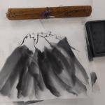 人生初の水墨画教室