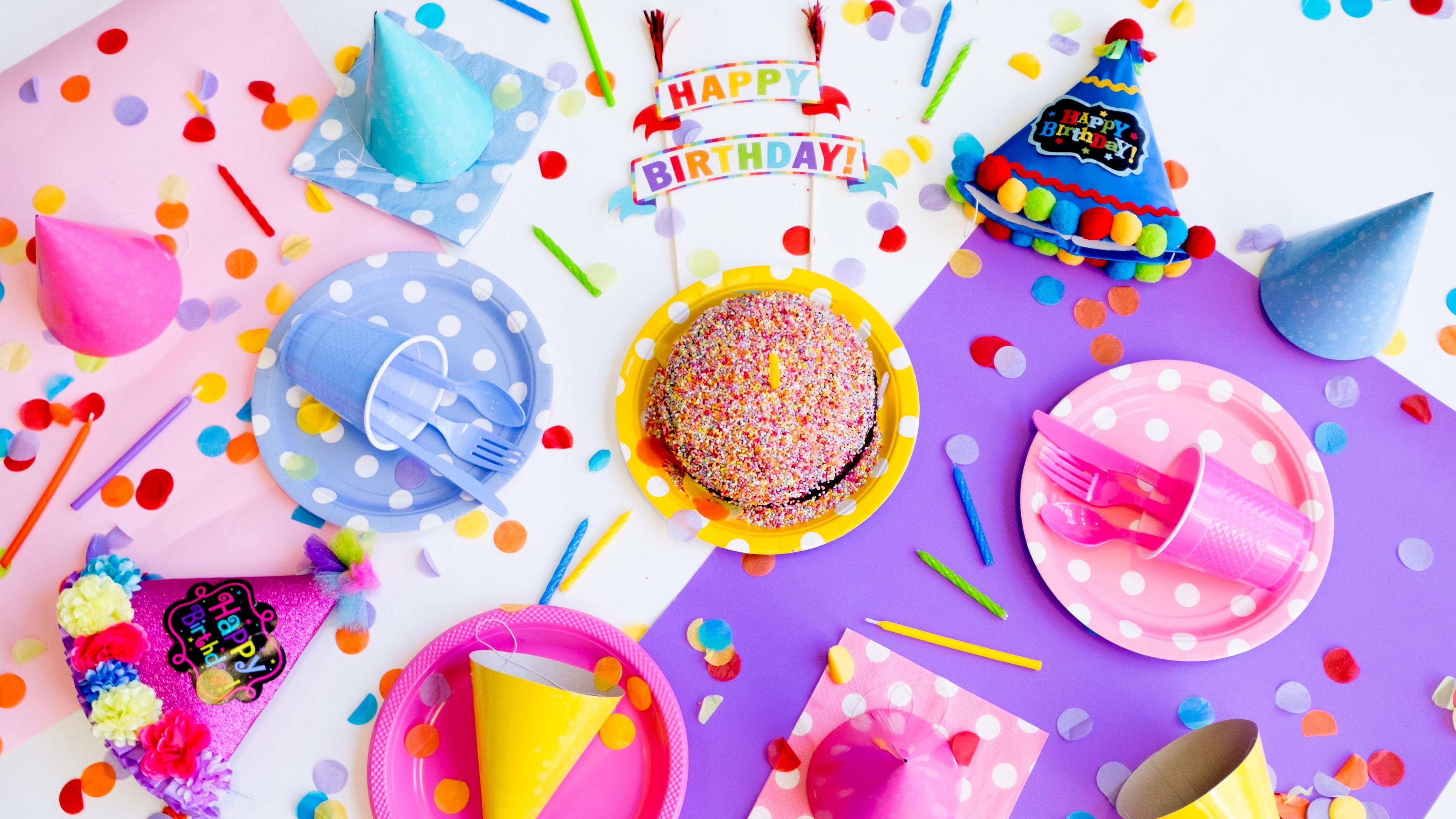 Happy Birthday 4k Wallpaper Birthday Party Birthday Decoration Cake Colorful 5k Celebrations 1118