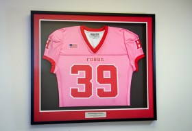 Custom Framed Jersey with and Custom Engraved Nameplate