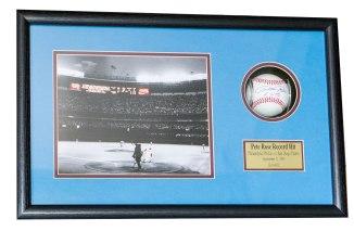 Custom Framed Baseball Shadowbox with One Photo and Custom Nameplate
