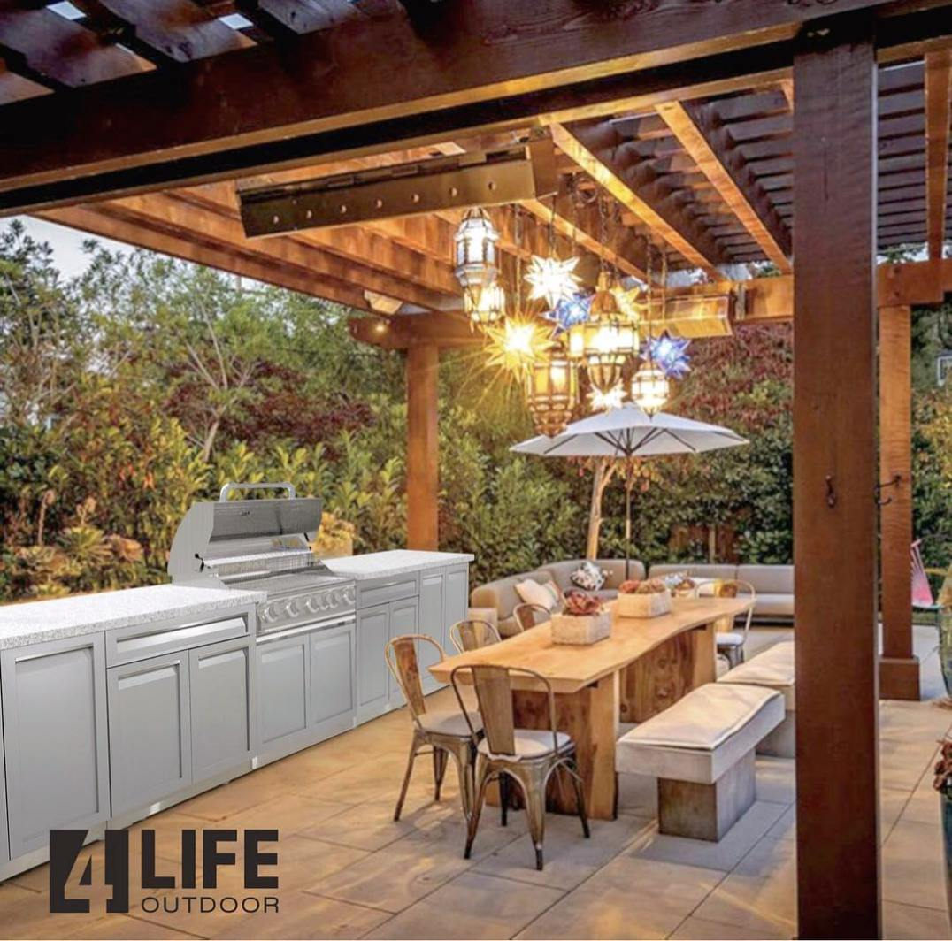 4 Life Outdoor Kitchen gray stainless in patio654