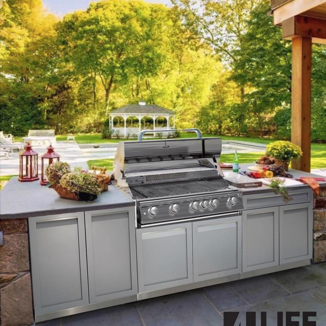 4 Life Outdoor Kitchen white stainless in patio659