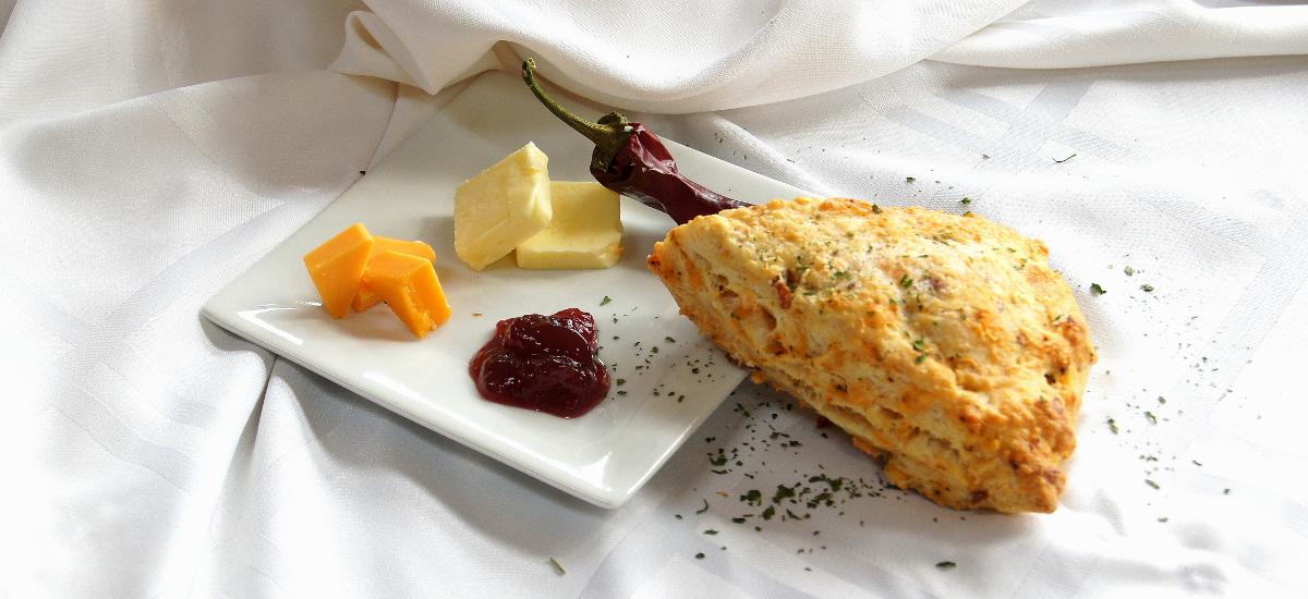 Cheesy Pepper Savory Scone