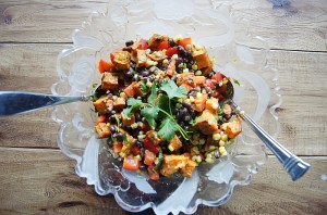 Black Bean Corn and Roasted Sweet Potato Salad