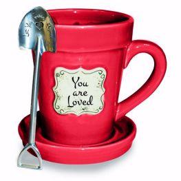 flower mug red