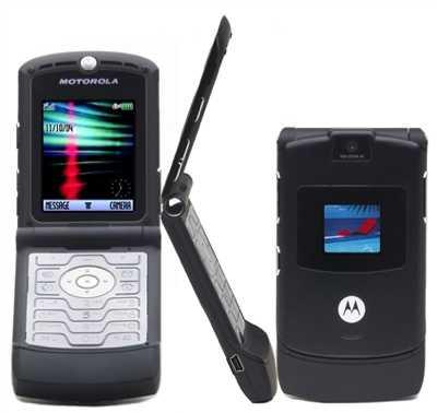 11162 MotImage - Motorola RAZR V3 Black