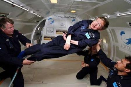 hawking%20space - Stephen Hawking in assenza di gravità