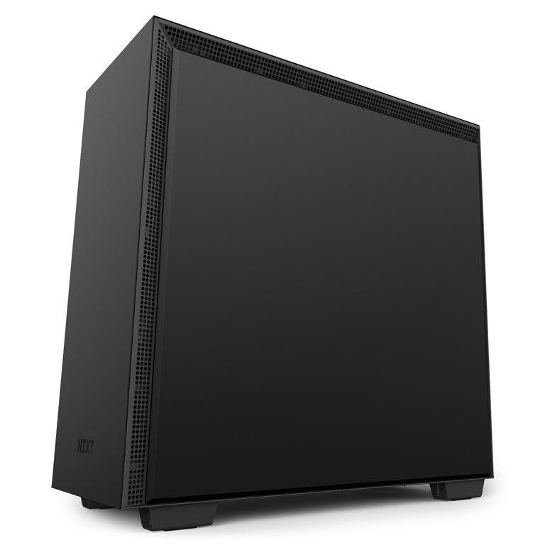 H700i Matte Black Right - NZXT presenta la nuova Serie H dei suoi case per PC