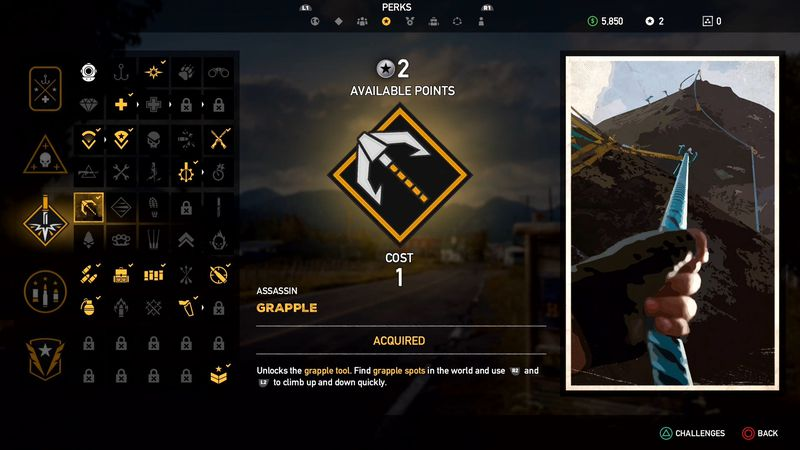 ASSASSIN - Far Cry 5, guida alle abilità