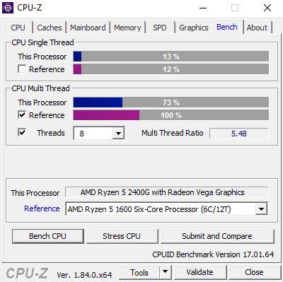 cpuz - Recensione Ryzen 5 2400G