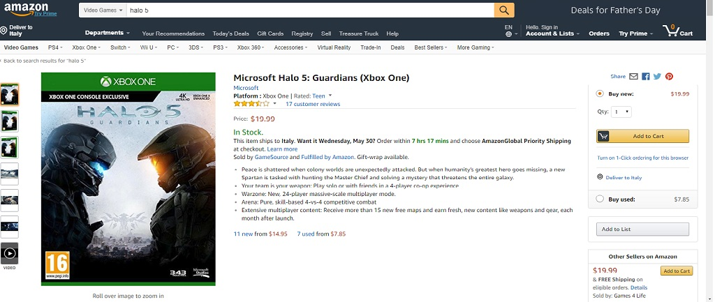 Halo Amazon - Halo 5 Guardians arriverà su PC
