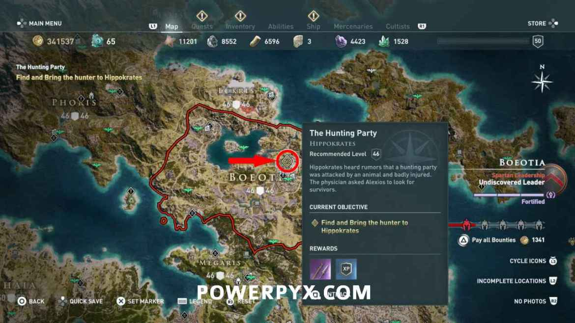 assassins creed odyssey hippokrates questline location - Assassin's Creed Odyssey, guida ai trofei