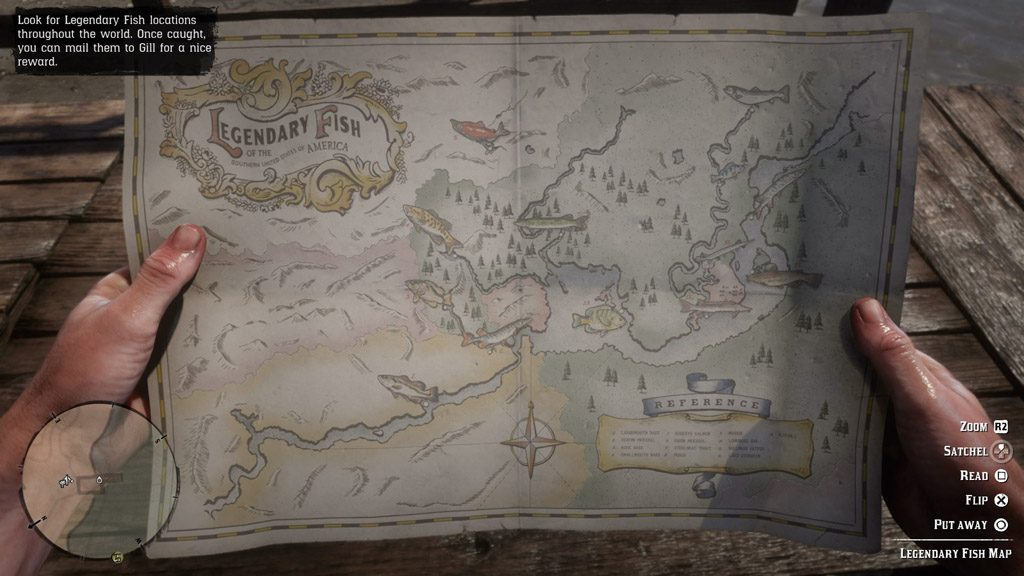 red dead redemption 2 legendary fish map 1024x576 - Red Dead Redemption 2 - Guida ai pesci leggendari