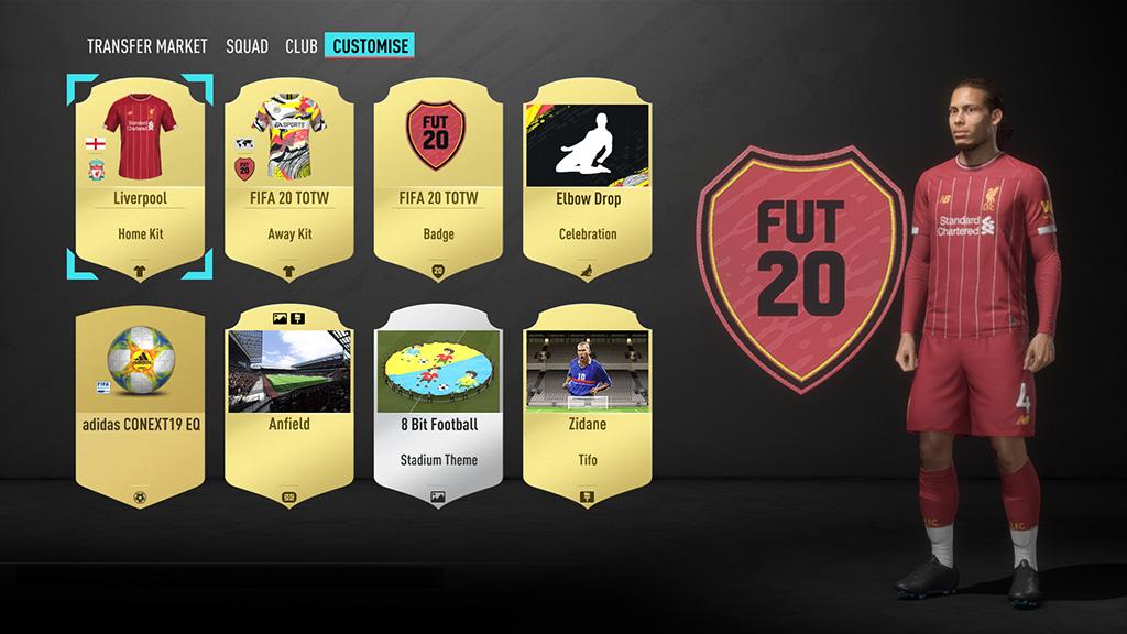 Fifa 20 Ultimate Team personalizzazione