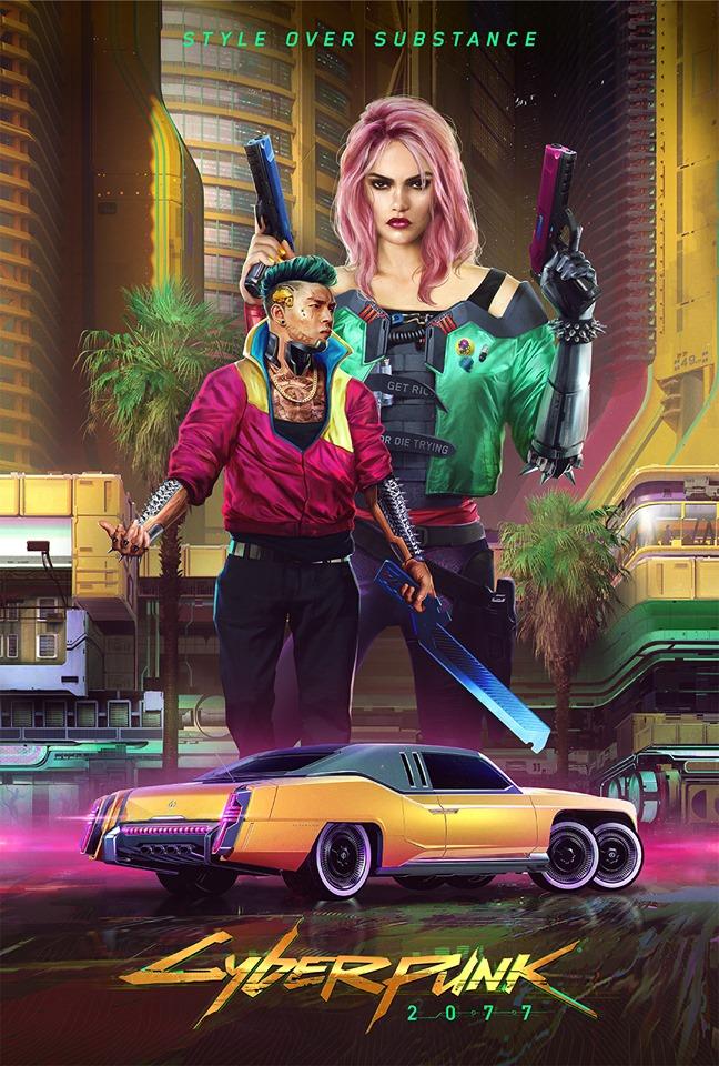 Cyberpunk Kitsch style