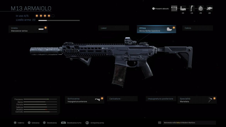Call of Duty: Modern Warfare Personalizzazione Armi