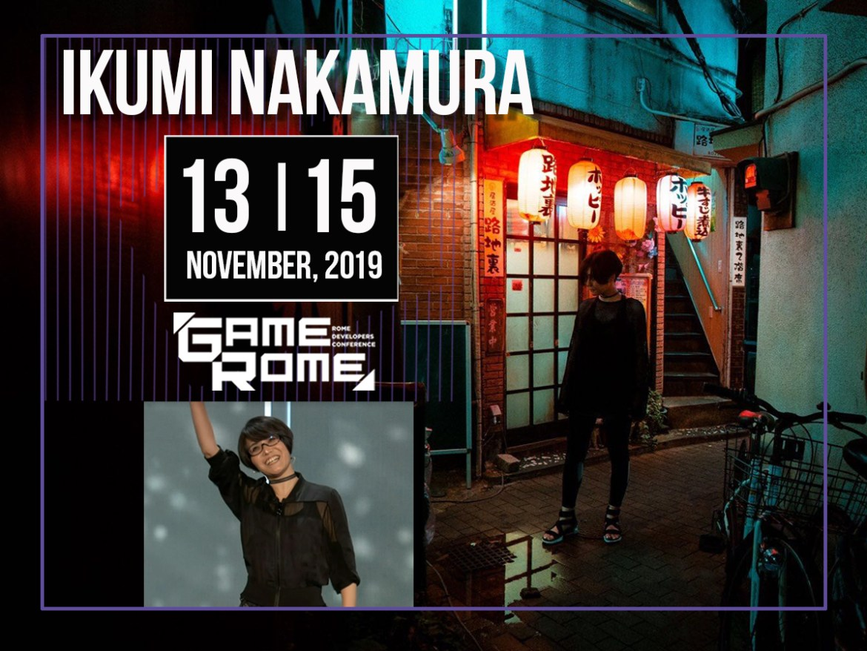 nakamura - Ikumi Nakamura annunciata come Keynote Speaker di Gamerome 2019