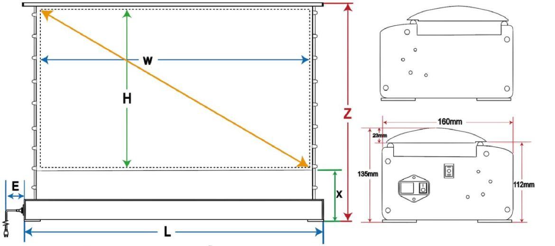 DimensioniVividstorm - Recensione schermo per proiettori ust VividStorm OPAL ALR