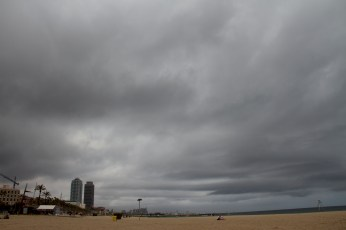 beach clouds
