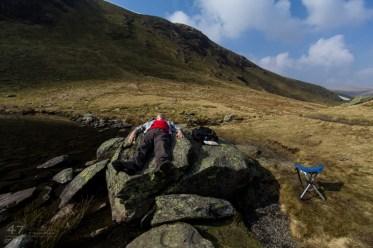 Resting after a long climb