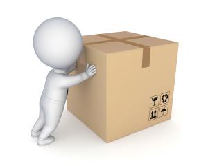 Cartoon with Box