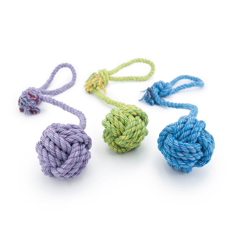 3er Set Nuts for Knots Ball mit Schlaufe von Happy Pet