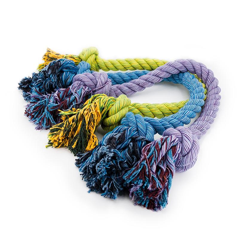 Alle 3 Farben des Nuts for Knots Kingsize Schleppseils von Happy Pet