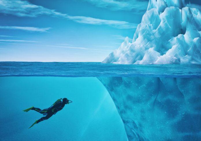 Tauchen nahe Eis